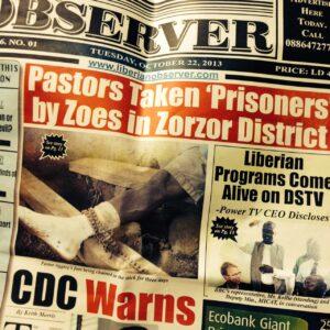 Liberian newspaper article