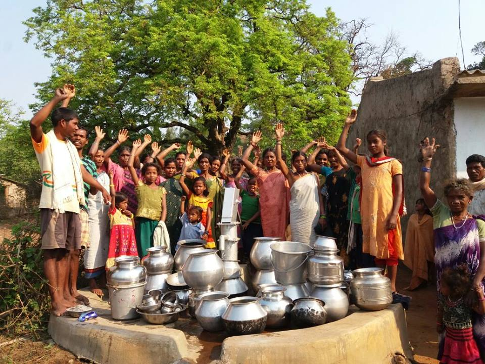 Indian partnerships around a well